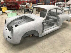 Sabbiatura scocca Porsche